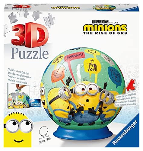 Ravensburger 3D Puzzle 11179 - Puzzle-Ball Minions - 72 Teile - Puzzle-Ball für Minions-Fans ab 6 Jahren