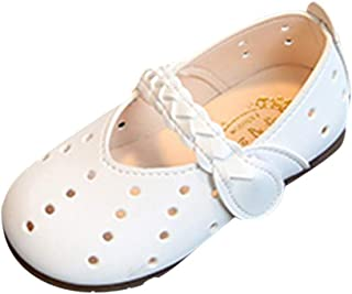 LNGRY Baby Shoes,Toddler Infant Kids Girls Princess Hollow Out Weave Band Mary Jane Casual Single Shoes