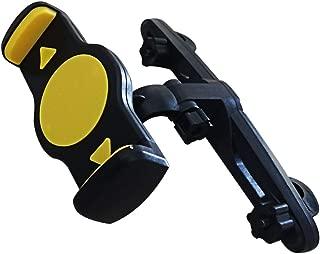 Manords Car Headrest Mount, Tablet Headrest Holder Flexible Back Seat Bracket with Adjustable Holding Clamp for 5.5-9.8 Inch Tablets