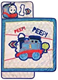 My First Thomas & Friends Nap Mat - Built-in Pillow and Blanket Featuring Thomas - Super Soft Microfiber Kids'/Toddler/Children's Bedding, Ages 3-5 (Official Mattel Product)