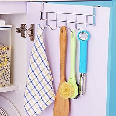 YJYDADA Kitchen Storage Rack Cupboard Hanging Hook Hanger Chest Storage Organizer Holder