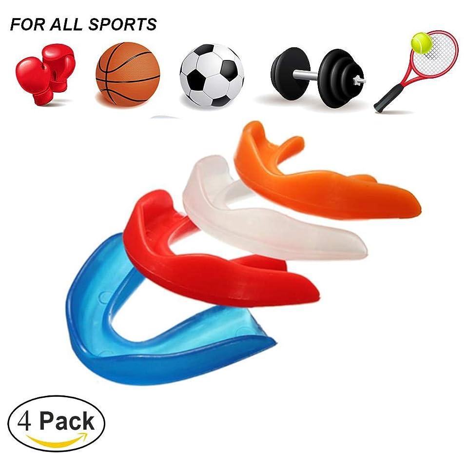 容器生む眉スポーツ用マウスピース,テコンドーボクシングの保護のための歯の装甲は口のサイズに合います(4パック)