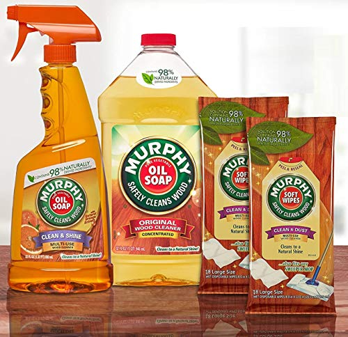 Murphy's Oil Soap Wood Cleaner and Polish Kit for Wood Floors and Furniture
