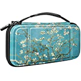 Fintie Carry Case for Nintendo Switch - [Shockproof] Hard Shell Protective Cover Travel Bag w/10 Game Card Slots, Inner Pocket for Nintendo Switch Console Joy-Con & Accessories (Blossom)