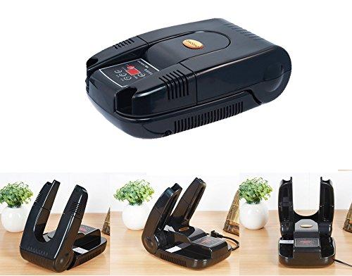 Elektrische Schuhtrockner und Ozon Parfum | Schuhe + Stiefel Trockner Sterilisator mit digitaler Kontrollen und Timer Funktion (Modell g-s6629b), schwarz