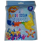 Kids Ocean Flosser Sujetador de hilo dental 32 piezas