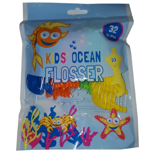 Kids Ocean Flosser (vorgespannte Zahnseide,32 St.)