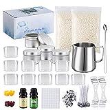 JBEIY Kit Velas, Kit para Hacer Velas con Instrucciones, Cera velas kit, incluir Cera de abejas,...