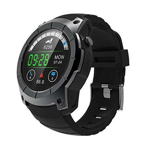YUSDP Smart Watch für Android IOS-IP67 Wasserdicht, Mineralglas Spiegel-mit Schrittzähler Pulsmesser Schlaf Tracker für Männer, Frauen, Kinder, 2 Farben