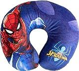 Marvel Pillow Cuscino per Collo da Viaggio Cervicale in Tessuto Spiderman Uomo Ragno Supereroi Bambini, Rosso, Unica