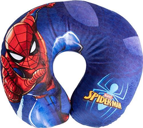 Marvel Spiderman Pillow - Cojín para Cuello de Viaje Cervical de Tela Spiderman para Hombre araña superhéroes niños