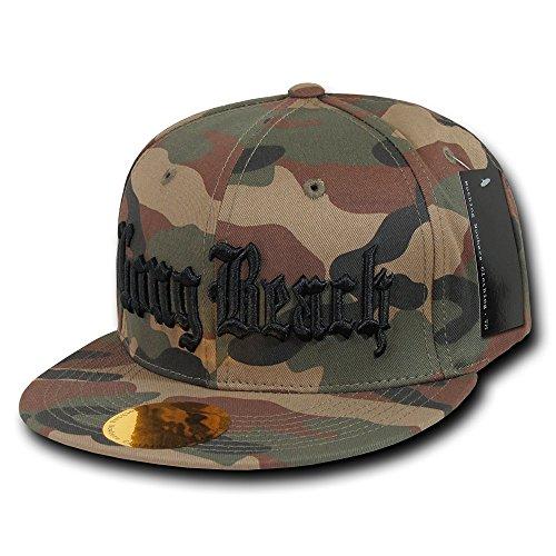 Hip Hop Flat Cap Compton Long Beach Vintage Snap Back Verstellbar Basecap (Long Beach Camouflage)