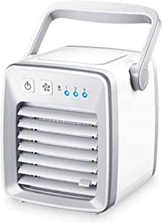 CHHD Ventiladores, Mini Aire Acondicionado portátil, Enfriador de Aire Personal Space, Mini Ventilador USB de Escritorio, Tres en uno, Alimentado por USB, Tanque de Agua de 350 ml, Tercer Engranaje a