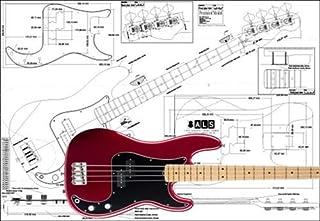 Plan de Fender Precision Bass 4cuerdas–Escala completa impresión