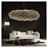 YSJSPOL Iluminación de Techo Lámparas de Luz de Nube Creativa Moderna LED Personalidad Colgante Hotel Restaurante Bar Designer (Body Color : Gold, Size : Warm White)