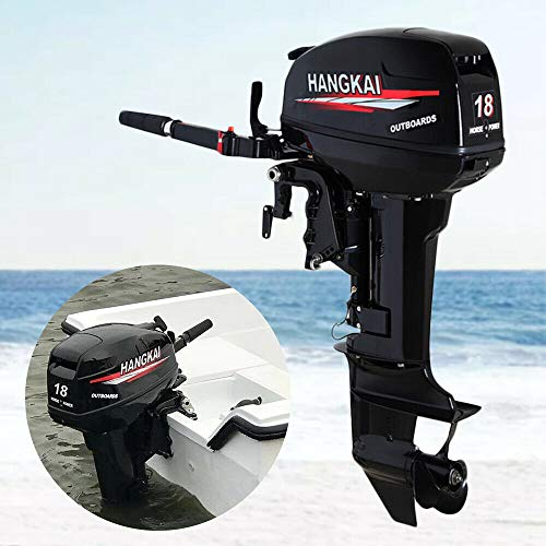 TBVECHI 18HP Outboard Motor Boat Engine, 246CC 2 Stroke Heavy Duty Outboard Motor Fishing Boat Engine with Water Cooling System (2-Stroke 18HP)
