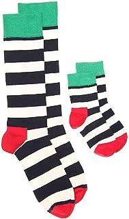 Daddy & Me Crew Sock Set 1013 1224 M ,Navy Cream Green