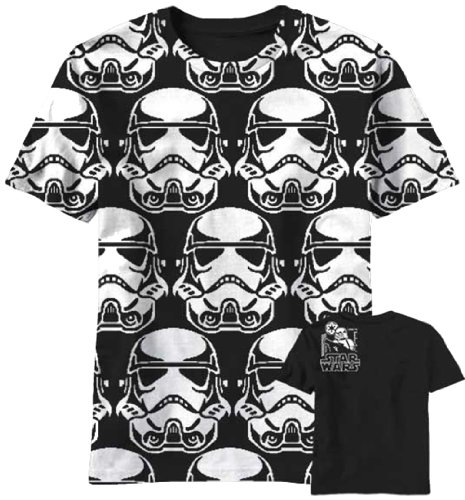 Star Wars Trooper Pixels Camiseta Negra Para Hombre