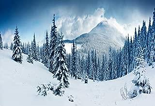 Leowefowa Snow Mountain Backdrop 10x8ft Vinyl Winter Snow Scene Backdrp Pine Trees Outerdoor Winter Wonderland Christmas Party New Year Festival Celebration