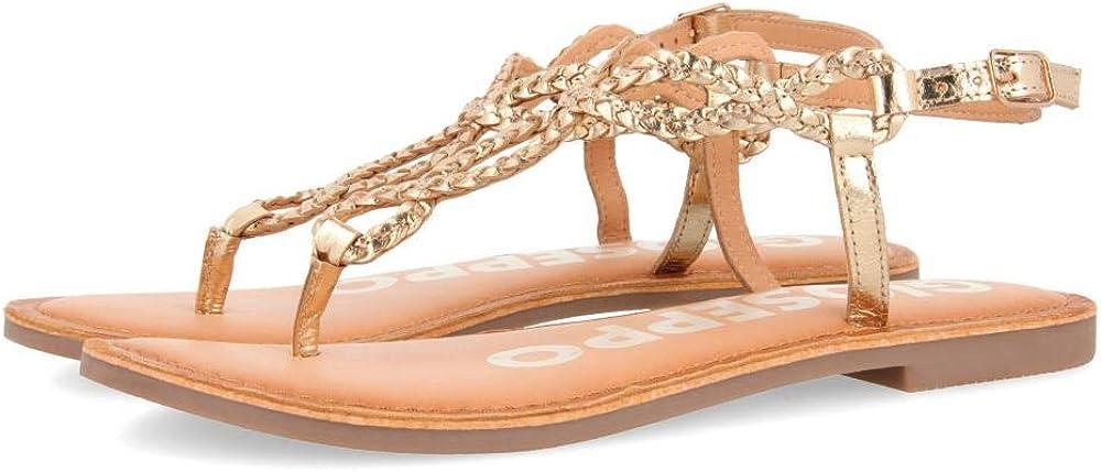 Gioseppo Women's 5% OFF Fyffe specialty shop Open Toe 6.5 Gold Sandals Oro