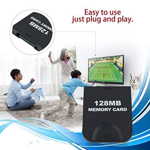 FairytaleMM Tarjeta de Memoria de Alta Velocidad de 128MB Guardar Tarjeta de Datos del Juego para Nintendo Gamecube (Color: Negro)