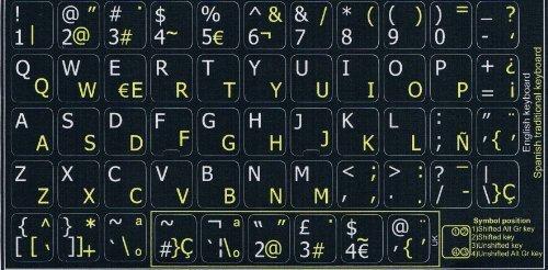 TecLADO ENGLISH QWERTY-toetsenbord, zelfklevend, met Spaans