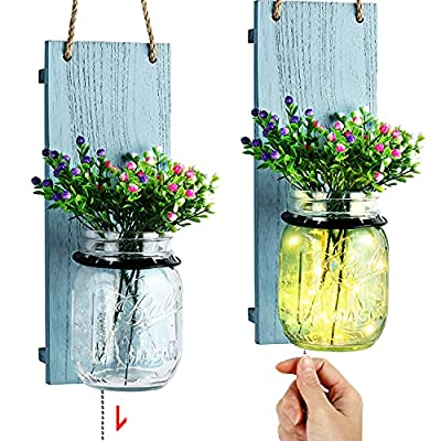 Amazon - 15% Off on Farmhouse Decorative Mason Jar Sconce, Coastal Style Wall Sconce with Pull Chain Switch