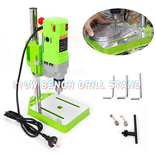 Best Review Of Bench Drill Stand, TBVECHI 710W Electric Bench Drill Press Stand Work Bench Wood Dril...