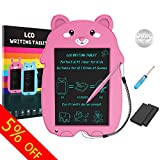 COMPONALL LCD Writing Tablet, Cartoon Bear Portable Reusable Erasable Writing Board Doodle Board, Electronic Doodle Pads Drawing Board Gift for Kids and Adults at Home,School and Office(Pink)