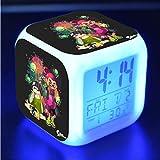 HHKX100822 Spray Pistolet Dessin Animé Réveil des Jouets des Enfants A Conduit Couleur Colorée Quad Horloge Lumière De...