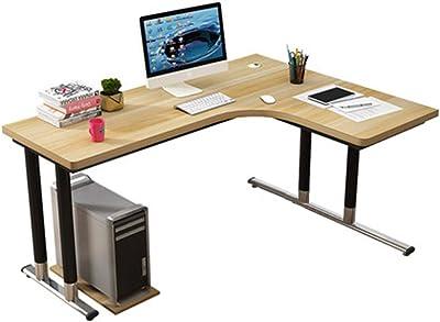 Gaming Computer Desk Modern Laptop Study Desk with Shelves for Home Office Metal Corner Desk, Glass, Multi-Colour, 3-Piece