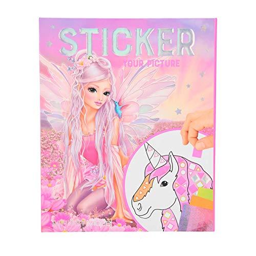 Depesche 11122 Stickerbuch FANTASYModel Sticker your Picture, mit 25 Seiten und 10 Bogen voller zahlreicher Aufkleber, ca. 20 x 16,5 x 1,8 cm groß