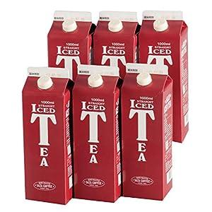 サザコーヒー ストレートアイスティー 無糖 1000ml×6本