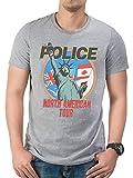 The Police Sting American Tour Stewart Copeland Oficial Camiseta para Hombre (Small)