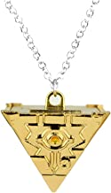 OfficialOtaku Yu-Gi-Oh Yugioh Millennium Puzzle Pyramid Pendant Chain Cosplay Necklace - Metal (1.1 oz) Gold
