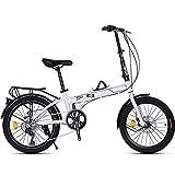 ZXYY Bici Pieghevole da 20 Pollici a 7 velocità con Pedali Bicicletta Pieghevole con Bici...