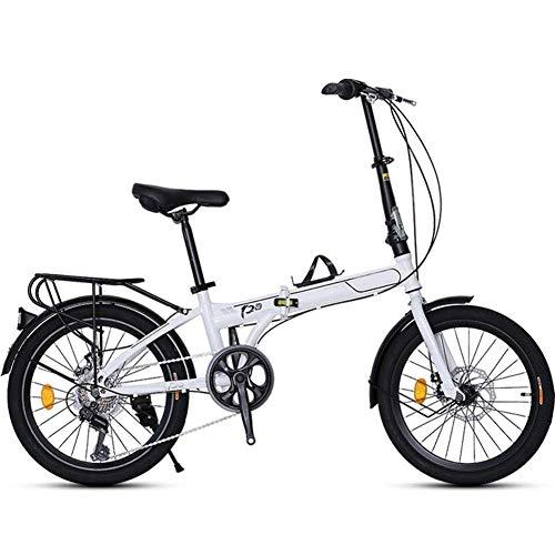 ZXYY Bicicleta Plegable de 20 Pulgadas y 7 velocidades con Pedales Bicicleta Plegable con Bicicleta extraíble de Gran Capacidad Bicicleta Liviana para Adolescentes y Adultos