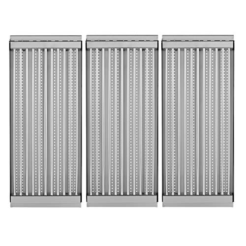 BBQration 3-Pack Stamped Stainless Steel Cooking Grid Replacement Emitter Set for Charbroil Tru-Infrared Grill Model 463270512, 463270909, 463270912, 463241313, Kenmore 16657, 415.16167210, and More