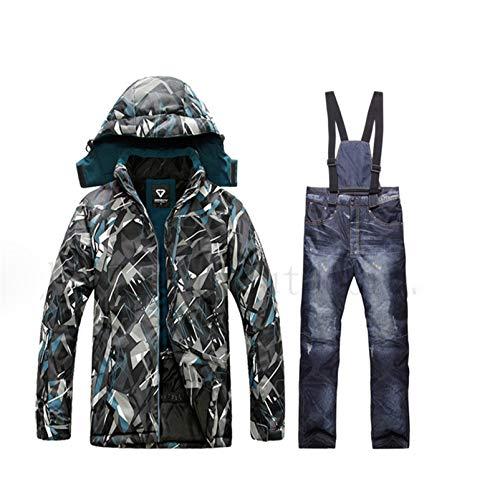 Veste imperméable pour Hommes Combinaison de Ski Hommes Veste de Snowboard Homme vêtements de Ski Hommes Vestes de Sport Coupe-Vent Hommes Veste Set 7 XL