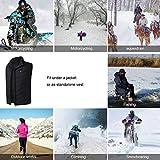 Zaote beheizte Weste, Outdoor reiten Skifahren Angeln USB Lade beheizter Kleidung Warmer down Vest beheizte Kleidung für Outdoor Wanderung und Camp - 6