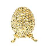 Qifu, Handbemaltes Ei im Faberge-Stil, emailliert, klein, dekoratives, aufklappbares...