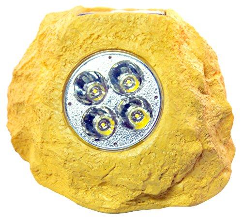 Homebrite Solar 33846/4 Power Spot Lights Solar Spotlight, Sandstone Rock