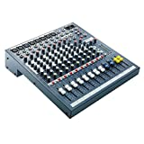 Soundcraft EPM8 - Consola de 6 vías mono + 2 canales estéreo (8 entradas micro XLR, fader 80 mm), color gris