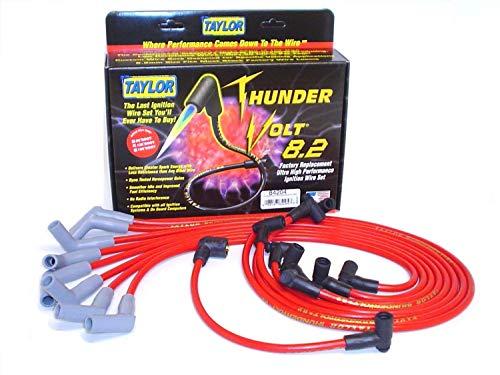 Taylor Cable 84204rojo 8,2mm ajuste personalizado thundervolt Ultra alto rendimiento Spark Plug Wire Set