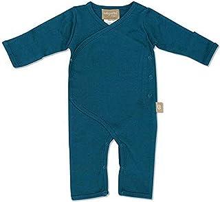 Babyushka Organic Australian Long Sleeve Kimono Romper, Blue, 0