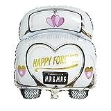 Rayher 87016000 Globo gigante de coche de novios, 49 x 63 cm, Globo para bodas, apto con helio y aire