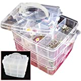 Portable Nail Art Tips Makeup Cosmetics Jewelry Container Storage Box Case Gift