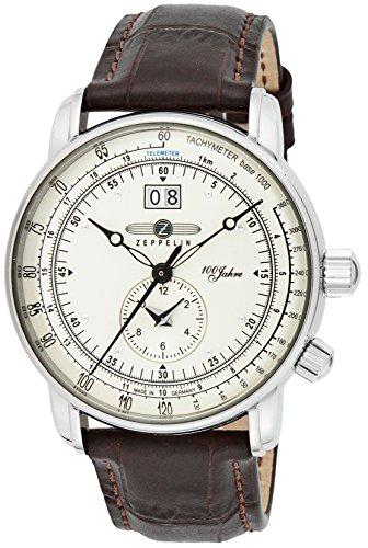 [ツェッペリン] 腕時計 100周年モデル シルバー文字盤 7640-1N 並行輸入品 ブラウン [並行輸入品]