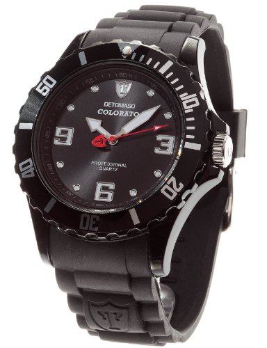 DETOMASO Herren-Armbanduhr Detomaso Colorato 48 Mm Xl Black Analog Quarz DT2014-B