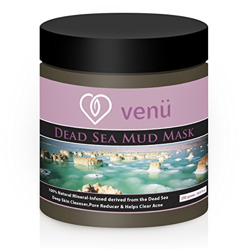 Venu Beauty Dead Sea Mud Mask Mineral Enriched Spa Facial Treatment for Wrinkles, Acne, Under Eye Circles, Dark Spots & More
